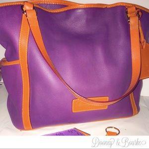 Dooney & Bourke Genuine Leather Plum Tote Bag